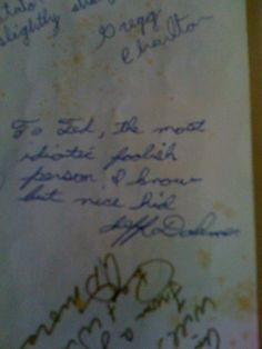 Yearbook message from a serial killer, a little creepy but so telling after the fact