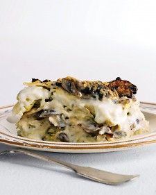 Rich Artichoke and Mushroom Lasagna. Forgo the Basic Bechamel Sauce for a lighter version of this recipe.
