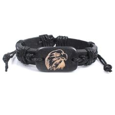 Prime Leader 2015 Luxury Quality Wrap Genuine Leather Bracelet For Women Eagle Bracelet Wooden Pulsera Oso >>> Quickly view this special product, click the image : Gift for Guys
