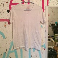 plain white tee Free with purchase Hanes Tops Tees - Short Sleeve