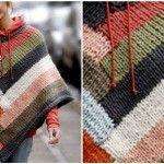 Knit Coloreful Poncho