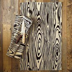 Wood Grain Tea Towel modern dishtowels