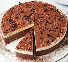 Easy to transport and serve, this is a great dessert to take to a party. Everyone loves tiramisu and everyone loves cheesecake so it's a winner all round Bbc Good Food Recipes, Gourmet Recipes, Sweet Recipes, Baking Recipes, Bbc Recipes, Gourmet Foods, Yummy Food, Great Desserts, Xmas