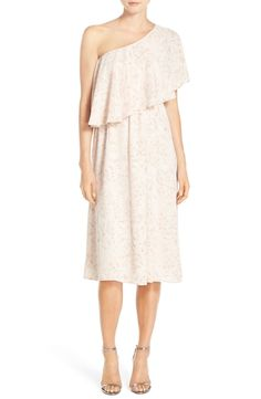 Paper Crown by Lauren Conrad 'Ariana' One-Shoulder Tea Length Dress available at #Nordstrom