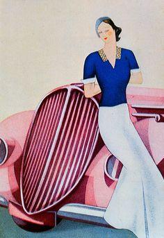 Shiseido Cosmetics advertisement, 1935