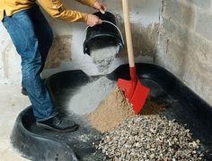 How to properly mix mortar and concrete - bench