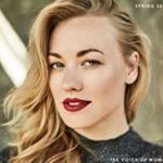 "28.2k Likes, 196 Comments - Yvonne Strahovski (@yvonnestrahovski) on Instagram: ""#timesup #sistersolidarity # Globes look Dress by @kaufmanfranco Shoes by…"""