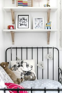 CE1 Boys Room Decor, Kids Room, Shelf Above Bed, Colorful Interior Design, Bright Rooms, Shelves In Bedroom, Blog Deco, Fashion Room, Kid Spaces