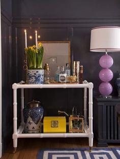 Liz Caan dining room #barcart