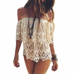 Chic 128 Best Seller Hot Selling Women Lace Crochet Beach Cover Ups Blouse Beach Shirt