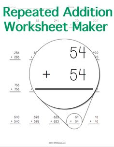 Customizable and Printable Repeated Addition Worksheet Maker