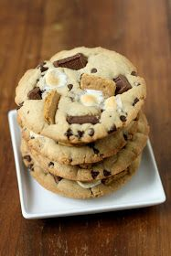 dinner or dessert: s'mores cookies