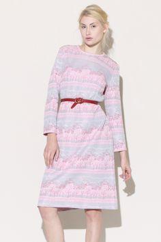 Walk in the Park Dress http://thriftedandmodern.com/vintage-70s-pink-tree-dress