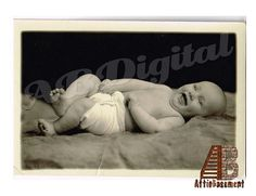 Photograph Baby Laughing in Cloth Diaper Portrait by AtticBasement, $5.00