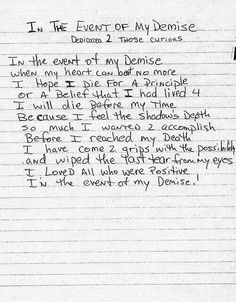 Tupacs Love Letter To Jada Pinkett  So Cute  Heartfelt  Tupac Shakur In The Event Of My Demise Tupac Poems Pac Quotes Life