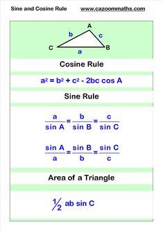 cosine and sine rule #mathhacks #mathtips