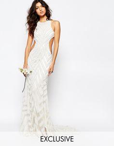 A+Star+Is+Born+Bridal+Embellished+Maxi+Dress
