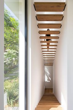 Modern House Stairs Design New Photos Wooden Stairs With Black Supports Lead You To The Upper Floor Of Interior Stairs, Interior Architecture, Landscape Architecture, Modern House Design, Modern Interior Design, Escalier Design, Interior Minimalista, Modern Stairs, House Stairs