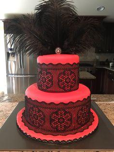 Lingerie shower cake Panty Party, Shower Cakes, Party Ideas, Lingerie, Desserts, Food, Tailgate Desserts, Deserts, Essen