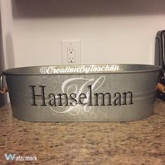 Galvanized Party Tub/Personalized by CreationsByTorchon on Etsy