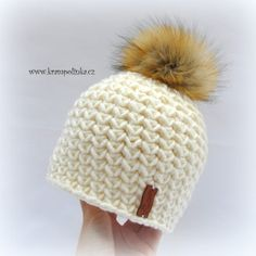 Kulíšek véčkový Tulip Big · Návody háčkování Krampolinka Crochet Kids Hats, Free Crochet, Knit Crochet, Scarf Hat, Beanie, Winter Hats, Crochet Patterns, Knitting, Handmade