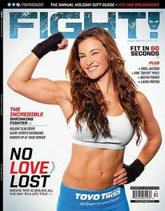 Miesha Tate the first woman on the cover of Fight magazine!