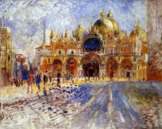 Basilica San Marco Venice by Pierre-Auguste Renoir 1881 Minneapolis Institute of Arts.