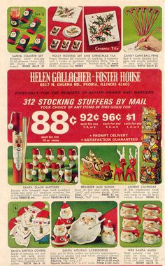Vintage Christmas ad: 312 Stocking Stuffers By Mail
