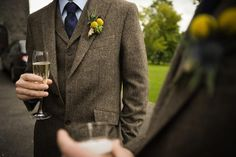 gorgeous spring tweed suit - perfect for the country gentleman groom