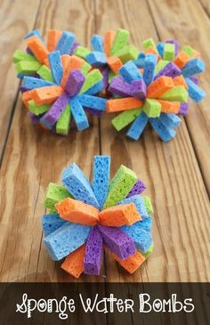 Kid's Party Crafts: Sponge Water Bombs - Spaceships and Laser Beams