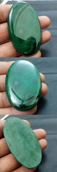 Malachite 10236: 185.45 Ct Natural Green Big Size Malachite Designer Oval Cab Loose Gem BUY IT NOW ONLY: $38.99