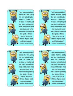 Kandy Kreations: Using the Minions to teach Your Kids to Follow the Prophet