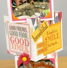 Club Scrap Cantina Blog Hop, Kay Williamson's Photo Cube