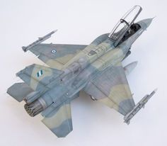 F-16D Block52. The model is a kitbash Tamiya F-16C Block 52 and Kinetik F-16D Block 52; Aires cockpit, wheel wells and exhaust nozzle. Decals from Icarus Decals.