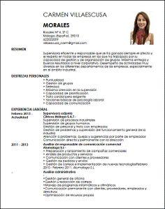 Modelo Curriculum Vitae Enfermera De Obstetricia  Cv