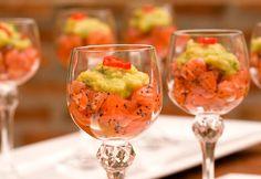 Tartare de salmão e guacamole - Basilico