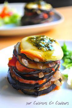 Cuisinons en Couleurs: Mille-Feuille d'aubergine à l'italienne