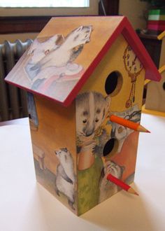 Birdhouse made (by me) from Bedtime for Frances by Russell Hoban, illustrated by Garth Williams
