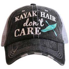 Kayak Hair Don't Care Trucker Hat - Gray/Mint