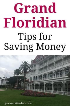 Grand Floridian tips for saving money on your next Disney vacation. Grand Floridian Resort is a beautiful onsite hotel at Walt Disney World, but it can be very expensive. Luckily, we have 5 travel hacks you can use to save money on your hotel stay. Use this advice to make your next Orlando Florida trip more affordable. Your family will love this Disney Vacation Club resort (but you don't need to be a DVC member)! #GrandFloridianTips #Disney #DisneyWorld #DisneyWorldTips #DisneyWorldHotels… Disney Vacation Club, Disney Vacation Planning, Orlando Vacation, Disney World Planning, Walt Disney World Vacations, Best Resorts, Vacation Deals, Florida Vacation, Disney World Resorts