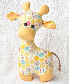 Giraffe Sewing Pattern - Toy Animal Sewing Patterns - via FineCraftGuild.com