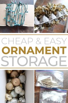 Learn how to store Christmas ornaments on the cheap with these inexpensive Christmas ornament storage ideas. They'll save your sanity next Christmas! Diy Ornament Storage, Christmas Ornament Storage, Christmas Lights, Christmas Diy, Christmas Decorations, Cheap Ornaments, Ornament Drawing, Christmas Planning, Diy Cleaning Products