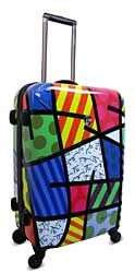 Romero Britto print luggage :)