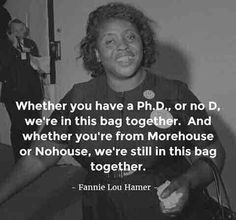"""#Respect #CRED #CivilRightsMovement #Courage - https://en.m.wikipedia.org/wiki/Fannie_Lou_Hamer - My late mother taught me about Ms. Hamer, including through: https://www.youtube.com/watch?v=aP2A6_2b6g8&sns=tw ... Please """"teach forward"""" to the next generation(s) """"Eyes On The Prize,"""" for as is crystal clear now 2017+, as attributed to George Santayana: """"Those who do not learn from history are destined to repeat it."""" #NEVERTrumpISM"""