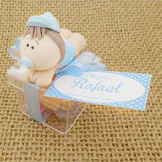 Lembrancinha Maternidade e Chá de Bebê Caixa com Bebê Biscuit e Balas $3.90