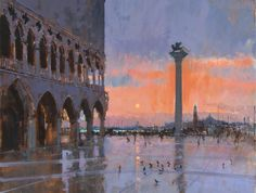 Ken Howard OBE RA (b.1932): View of San Giorgio Maggiore from the Doge's Palace