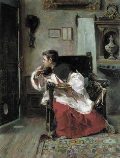 Sacristy Mosquito / Mosquito de sacristía // 1892 // Alejandro Ferrant y Fischermans // Museo de Bellas Artes de Bilbao // #altarboy #monaguillo
