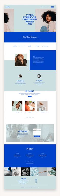 Jada Squarespace Template The Jada Template is a modern, editorial, and sleek Squarespace 7.1 Template design made for CEOs, influencers, speakers, and authors. #Squarespace #BuySquarespace #SquarespaceTemplate #TemplateKit #Business #Coaches #Authors #BestSquarespace #Speakers