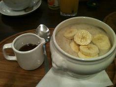 Twitter / Sunniestbunny: Porridge with banana and maple ...