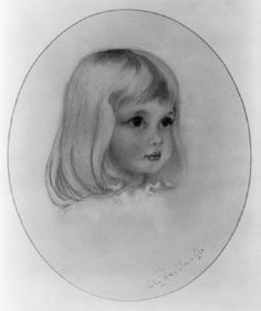 This is a portrait of Lady Diana Spencer when she was a little girl. - photo via dawngallick
